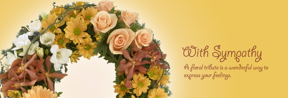 With sympathy - a floral tribute is a wonderful way to express your feelings