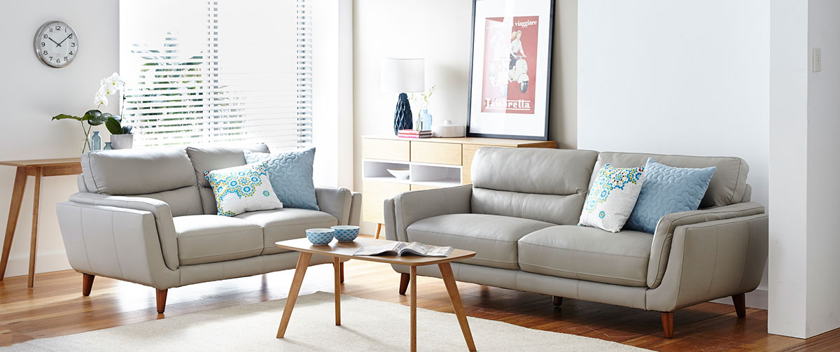 The Retro Styled Amrbose Leather Sofa's in the Illawarra & Wollongong Area