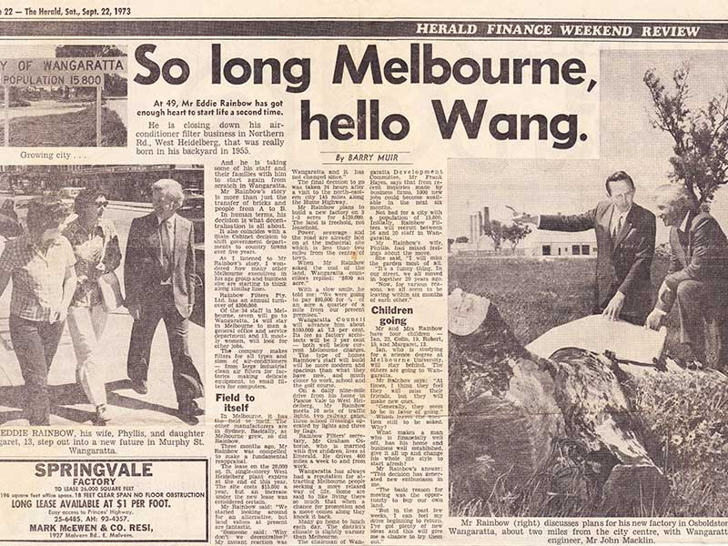News in The Herald on the move to Wangaratta