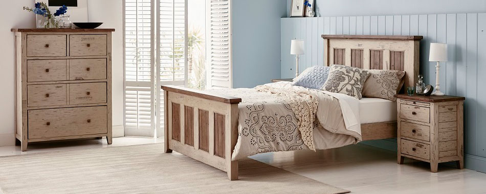 Brittany Bedroom, this beautiful reclaimed timber suite.